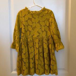 Girl's Mustard Dress